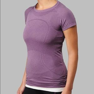 Lululemon Purple Swiftly Running Heather T-Shirt